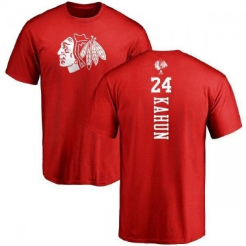 Men's Dominik Kahun Chicago Blackhawks One Color Backer T-Shirt - Red