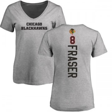 Women's Curt Fraser Chicago Blackhawks Backer T-Shirt - Ash