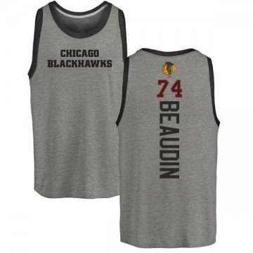 Youth Nicolas Beaudin Chicago Blackhawks Backer Tri-Blend Tank Top - Ash